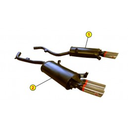 PAIR EXHAUST SYSTEMS ANSA...