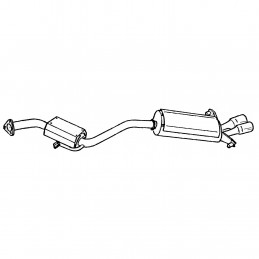 EXHAUST SYSTEM SILENCER LH...