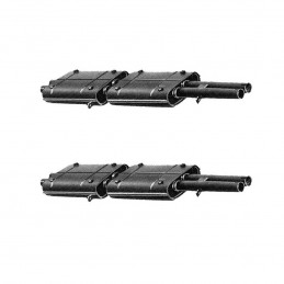 PAIR OF CENTRAL SILENCERS...